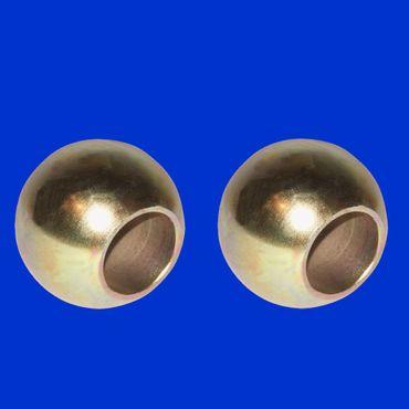 2 x Unterlenkerkugel Kat 3 – 2 (64 – 28mm) Kugel für Fanghaken Unterlenker, verzinkt – Bild 1