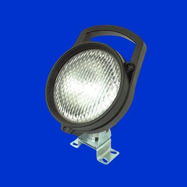 Arbeitsscheinwerfer, Scheinwerfer rund mit Griff und Schalter incl H3 Birne 12V/55W