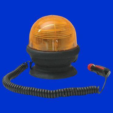 Xenon Doppelblitzleuchte gelb, Rundumleuchte, Warnleuchte mit Magnetfuß