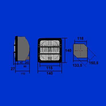 Scheinwerfer, Hauptscheinwerfer von COBO für Same 0523000001 – Bild 2