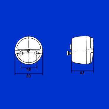 Hella Rücklicht, Schlußlicht, Zweikammerleuchte ohne Kennzbel. 2SB003018-031, K 23260 – Bild 3