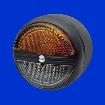 Hella Begrenzungsleuchte Standlicht und Blinker Gehäuse aus Metall, D 80mm, K 23237 – Bild 1