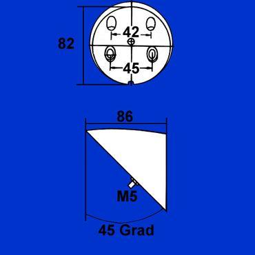 Kunststoffkonsole, Konsole 45 Grad für Rückleuchte, Rücklicht 8HG002247-001 – Bild 2