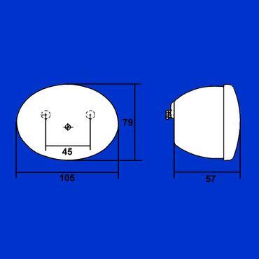Hella Rücklicht Zweikammerleuchte oval 105 x 79mm ohne Kennzeichenbel  K23256, 2SB001673002 – Bild 2