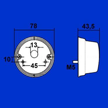 Hella Begrenzungsleuchte D 78mm links / rechts Blinker und Standlicht K 23269 – Bild 2