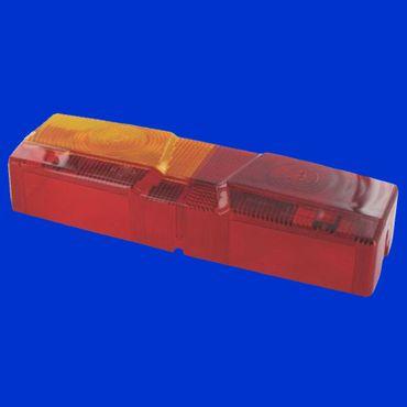 Ersatzglas links für Hella 53221,  Rücklicht, Rückleuchte Case XL ohne Kennzeichenbeleuchtung