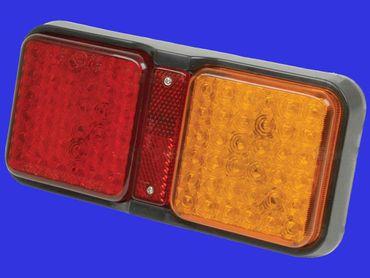 LED Rückleuchte, Rücklicht eckig 12 + 24V, links oder rechts passend – Bild 1