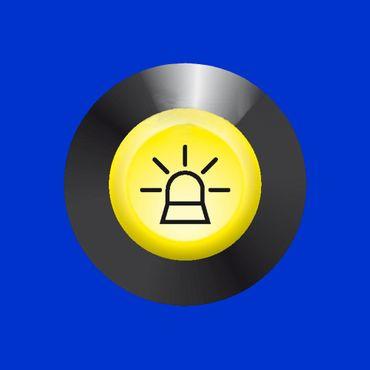 Schalter Druckschalter Rundumleuchte Blinklicht gelb für Fendt, X830240082000  – Bild 2
