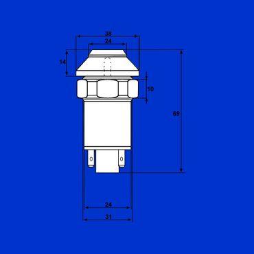 Schalter, Druckschalter für Arbeitsscheinwerfer hinten Deutz 01177876 – Bild 4