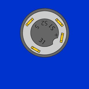 Schalter, Druckschalter für Arbeitsscheinwerfer hinten Deutz 01177876 – Bild 2