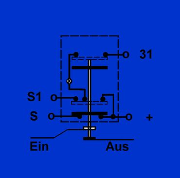 Schalter, Druckschalter für Arbeitsscheinwerfer hinten Deutz 01177876 – Bild 3