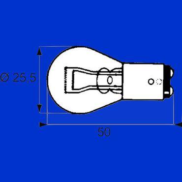 10x Birne 12V 21/5 W Sockel BAY15D, Glühbirne, Glühlampe, Zweifadenbirne, für Bremslicht und Rücklicht – Bild 1
