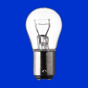 10 Stück Birne 12V, 21/4W, BAZ15D, Glühbirne, Zweifadenbirne – Bild 1