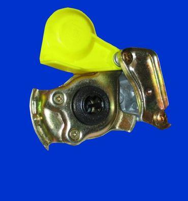 M16x1,5 gelb Kupplungskopf Zweikreisbremse m Ventil, Zugfahrzeug, Motorwagen, Schlepper