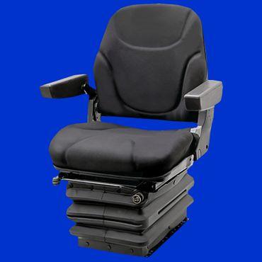Sitz, Luftgefederter Komfortsitz inkl. 12V Kompressor und klappbaren Armlehnen – Bild 1
