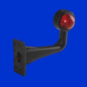 2 Stück Begrenzungsleuchte, geschw. Gummiarm, 170mm, rechts u links, Positionsleuchte