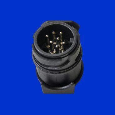 Adapter mit 13 -poligem Stecker und 7 -poliger Steckdose, Miniadapter, Kurzadapter – Bild 1