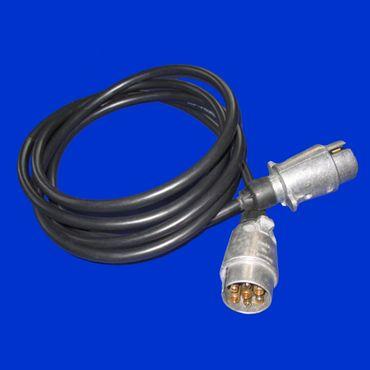 7 Poliges Anhängerkabel Kabel, Verbindungskabel mit Metallstecker Stecker 3m