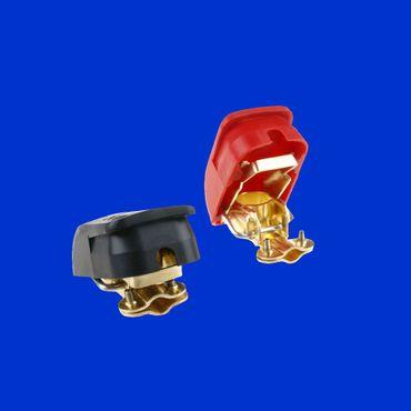 Batterie Polklemmen, Schnellklemmen Plus + Minus, rot + schwarz wechseln ohne Werkzeug