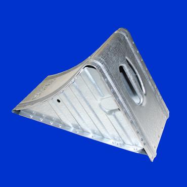 verzinkter Unterlegkeil UK 53 Hemmschuh, Vorlegekeil, Radkeil Radlast von 6500kg – Bild 1