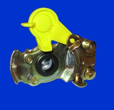 M16x1,5 gelb Kupplungskopf Zweikreisbremse o. Ventil, Anhänger, Auflieger, Kipper