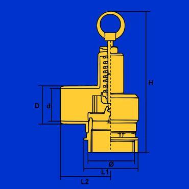 """ZM Sicherheitsventil 2"""" Zoll, Überdruckventil für Güllefass,  einstellbar 0,3 - 1,5 bar – Bild 2"""