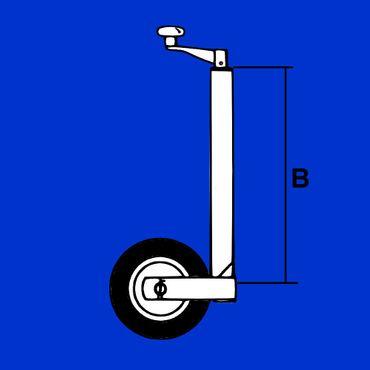 AL-KO vollauto. Stützrad PROFI Ø 60mm bis 500 kg f schwere PKW Anhänger, 1212382 – Bild 2
