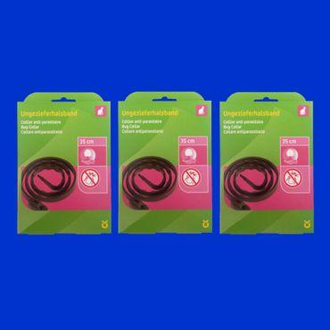 3 Stück Ungezieferhalsband gegen Flöhe, Parasiten, Zecken und andere Schädlinge 35cm – Bild 1