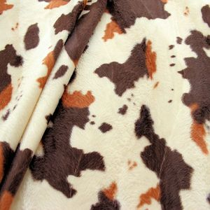 Super Luxurious Cow Faux Fur Colour: brown and beige