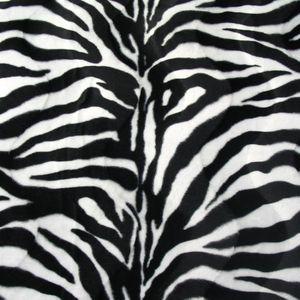 Super Luxurious Zebra Faux Fur