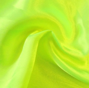 Polyester Satin Fabric colour: Neon Lemon