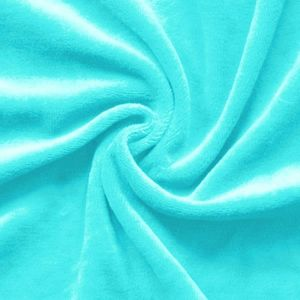 Nicky Velours Fabric colour: Sky Blue