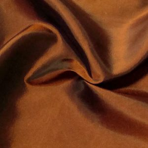Clothing / Decoration Taffeta Fabric Colour: Copper - Orange shimmering