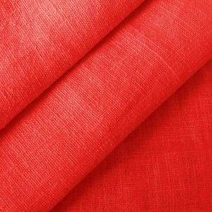 100% pure Linen Fabric, article: Barcelona, colour: Red