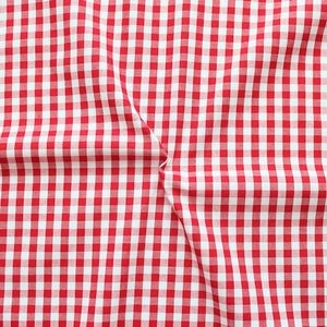 Cotton Shirt Quality Gingham medium colour Red - White