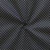 2 mm Polka Dots fabric 100% Cotton Black with White Spots