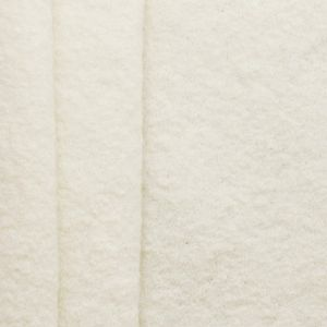 100 % Boiled Wool Fabric colour: Wool White