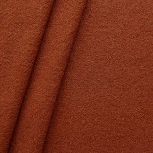 100 % Boiled Wool Fabric colour: Terracotta