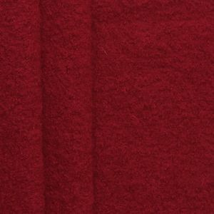 100 % Boiled Wool Fabric colour: Dark Red