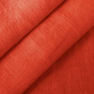 100% pure Linen Fabric, article: Barcelona, colour: Rust Red