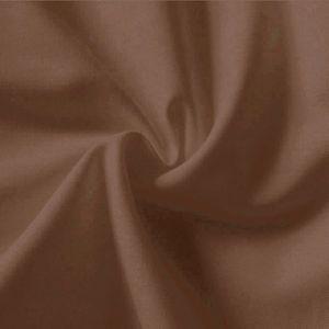 Tissu en coton uni largeur 145cm couleur: Brun