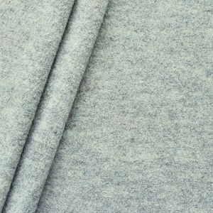 100 % Boiled Wool Fabric colour: Light Grey