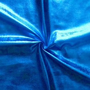 Bi-Stretch Foil Jersey Metallic shimmering surface, colour: Royal Blue