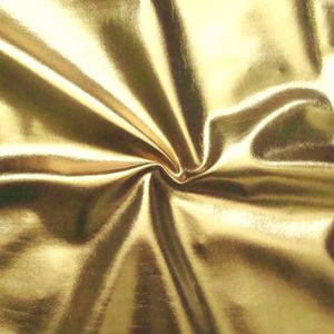 Bi-Stretch Foil Jersey Metallic shimmering surface, colour: Gold