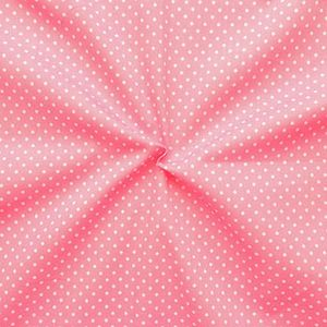 2 mm Polka Dots fabric 100% Cotton Rose with White Spots