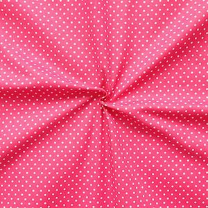 2 mm Polka Dots fabric 100% Cotton Pink with White Spots