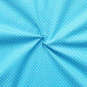 2 mm Polka Dots fabric 100% Cotton Sky Blue with White Spots