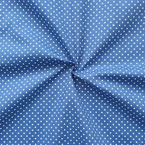 2 mm Polka Dots fabric 100% Cotton Cobalt Blue with White Spots