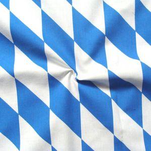 Bavarian Diamonds printed Cotton Fabric colours: Blue - White BIG
