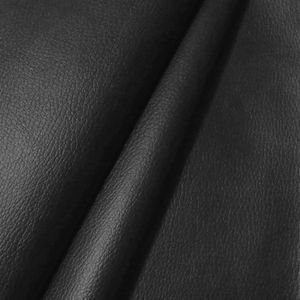 Upholstery Vinyl / Artificial Leather colour: Black with cowhide grain effect